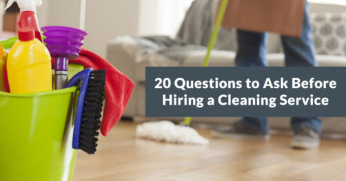 """Download Our Free Checklist: """"20 Questions to Ask Before Hiring a Cleaning Service"""""""