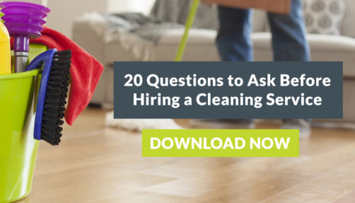 "Download Our Free Checklist: ""20 Questions to Ask Before Hiring a Cleaning Service"""